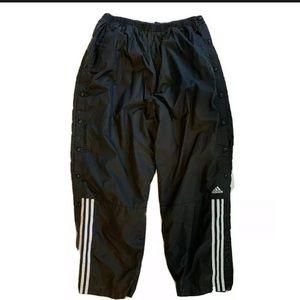 Adidas Track Pants Mens XL Vintage Side Snap